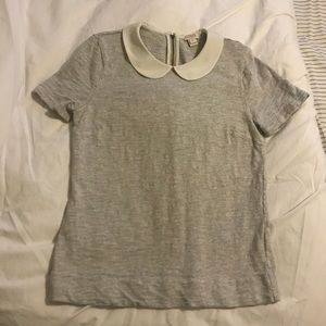 JCREW Peter Pan collar top